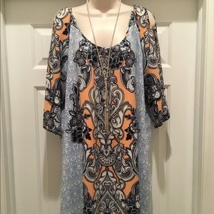 NWT Cold Shoulder dress by Gibson Latimer L.